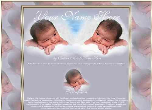 Template Reborn Baby Angels blue