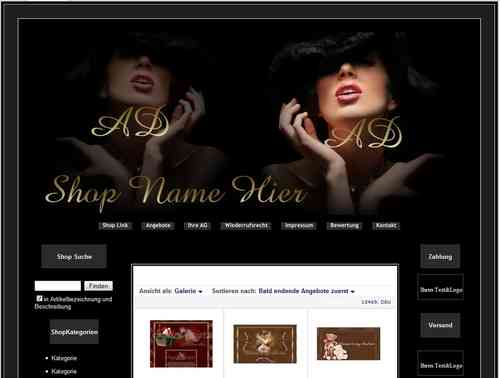 Design für Ebay Shop Layout Young Fashion