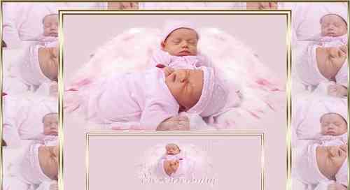 Exklusiv Vorlage Baby Reborn Angel mit Flash Header