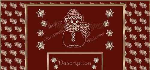 AngelsDesignz Creation Snowmen Christmas Template