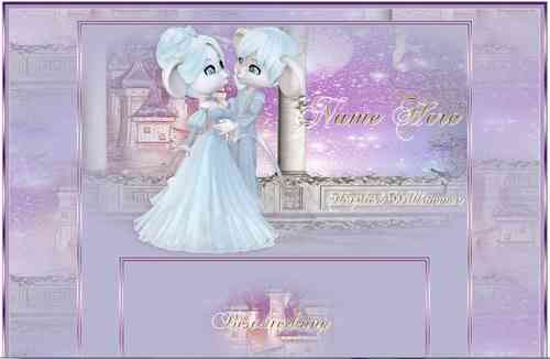 Template Magic Dream Castle Dreams with Animation