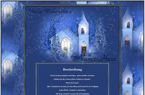 Template Winterland Christmas Advent with snow Animated