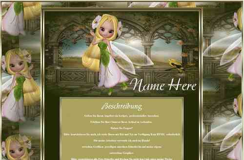 Template little fairy magic fairies Fantasy