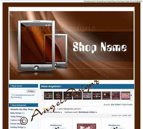 Design for Ebay Shop Layout Phones Communication