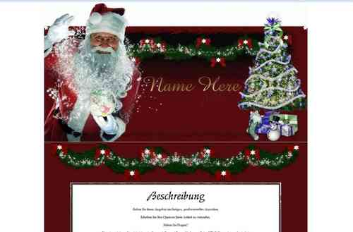 Template Santa Christmas Dreams with Glitter Animation