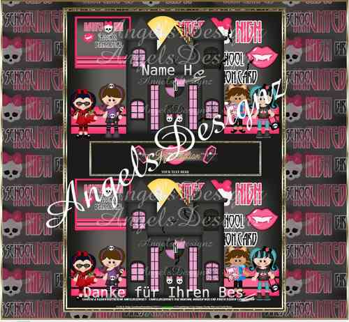 Flash Template Girly Magic School Template limited Design