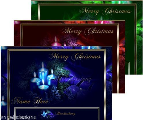 Template Christmas Dreams different color layouts to choose from