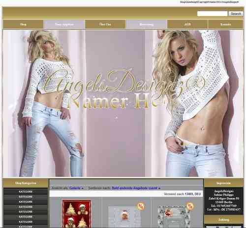Design für Ebay Shop Layout Fashion High Fashion