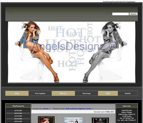 Design für Ebay Shop Layout Mode&Fashion Young Fashion