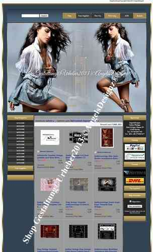 Design für Ebay Shop Layout Young High Fashion Mode Schuhe
