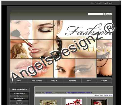 Design for Ebay Shop Layout Fashion Make up