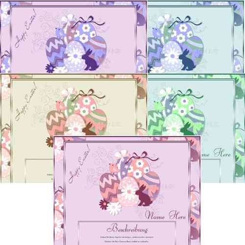 Template Easter different color layouts to choose from