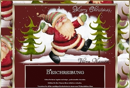 Template Santa Vintage Shabby with animation