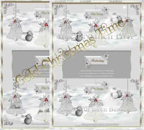 Template Gold White Christmas Time Winterträume