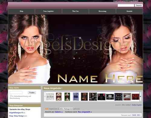 Shop Design für Ebay Shop Layout High Fashion