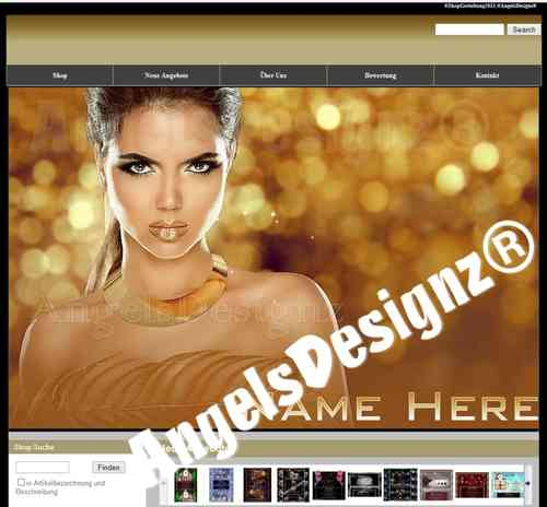 Shop Design für Ebay Shop Layout Golden Fashion Flair