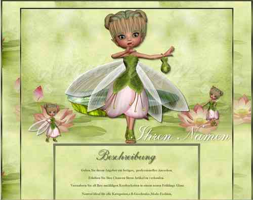 Template Magic Elfinchen Spring Summer Magic