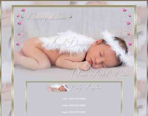 eBay Template sleep little Angel