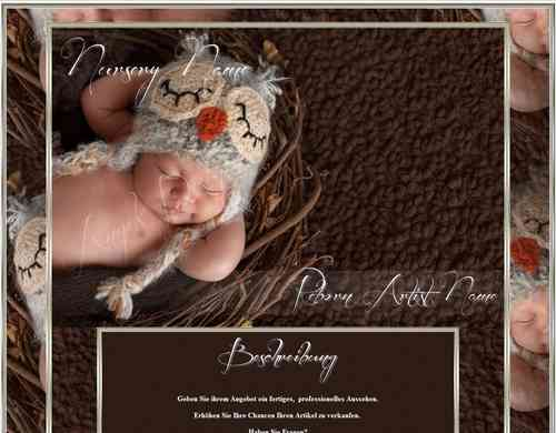 Exclusiv Baby Reborn Template little Owl