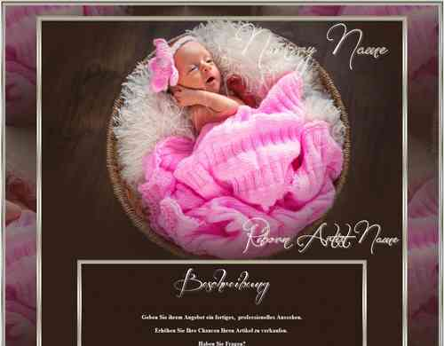 Exclusiv Baby Reborn Template little Baby Girl