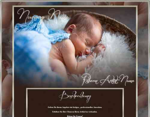 Exclusiv Baby Reborn Template little Baby Boy