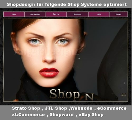 Responsives Shop Design Layout High Fashion