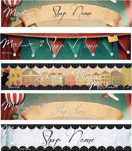 Banner Logo Vintage Scrap personalized with your name
