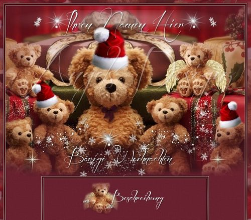 Template Teddys Christmas