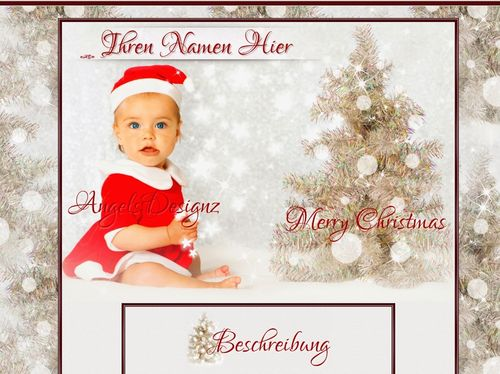 Baby Christmas Reborn doll Template