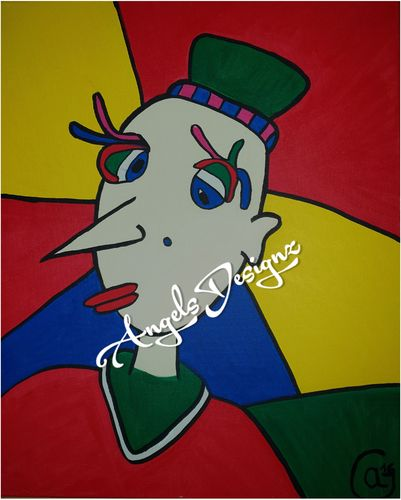 Pop Art Acrylic Painting Modern Art Painting on Canvas